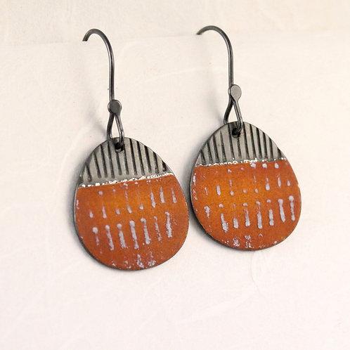 Island Drop Earrings - Rust