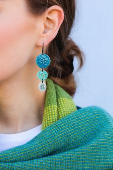 Tidal triple drop earrings