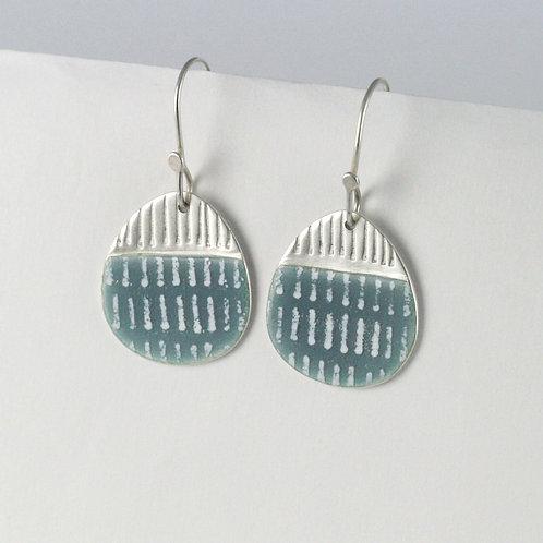 Island Earring Drops - blue-grey