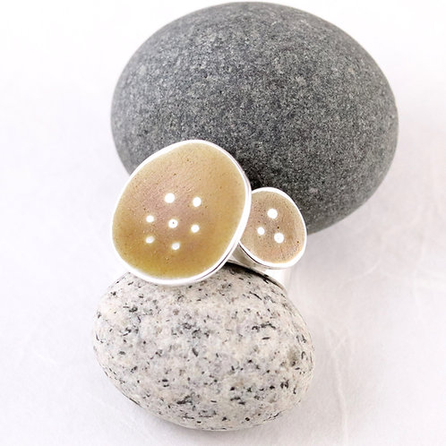 Sealife Ring Wide - Yellow Ochre