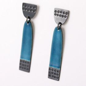 Buoy earrings long