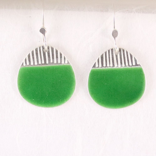 Island Earring Drops in Green