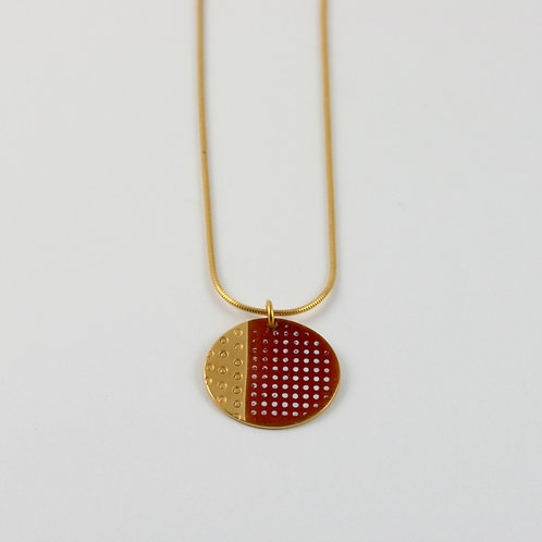 Islands Pendant in burnt orange - gold vermeil