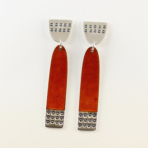 Earrings Buoy series Long Burnt Orange