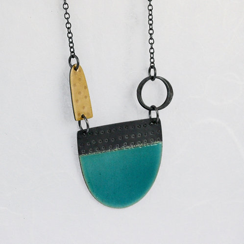 Tidal Necklace - Oxidised, Various Colours, made to order