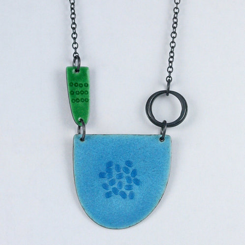 Tidal Necklace - Aqua and Green