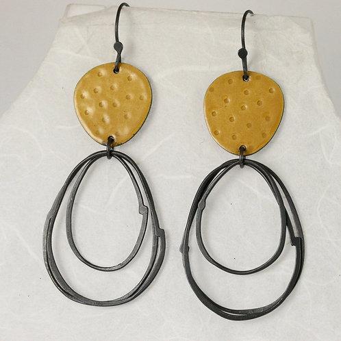 Flotsam Earrings with loops in Yellow
