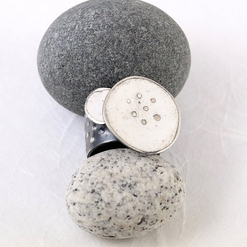 Sealife Ring Wide - White P