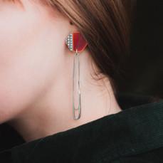 Basalt Long Loop Earrings