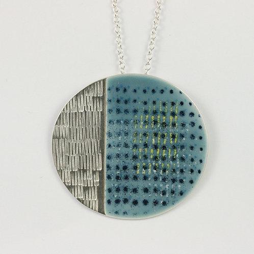 Large Island Pendant, blue-grey textured