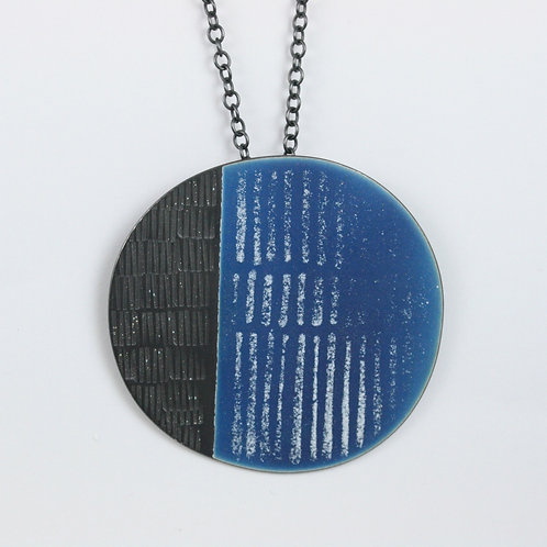 Large Island Pendant, Blue, textured