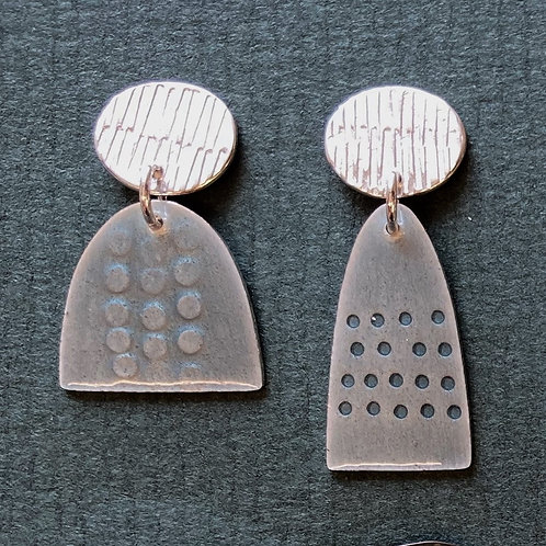 Leonora 3 Earrings stud top - various colour, made to order