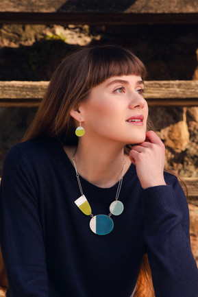 Island necklace and earrings
