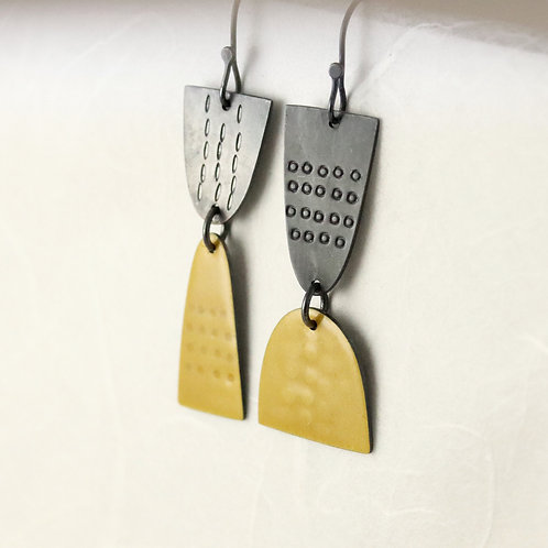 Leonora Earrings Dangly - Yellow