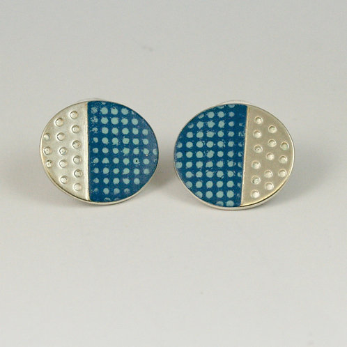 Island Stud Earrings - limited edition Blue