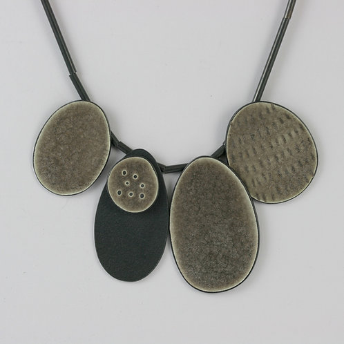 Cluster 5 Necklace - Warm Grey, made to order