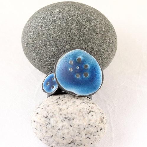 Sealife Ring Wide - Blue P