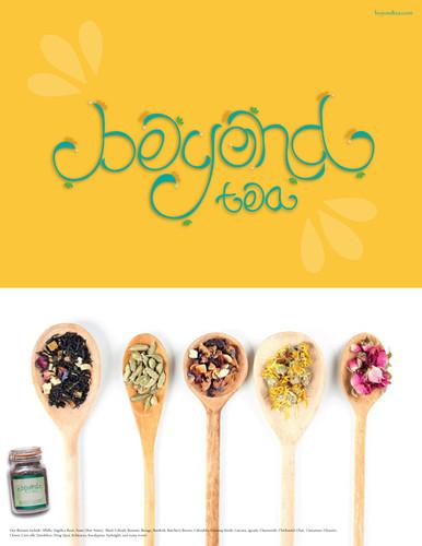 Beyond tea ad concept.