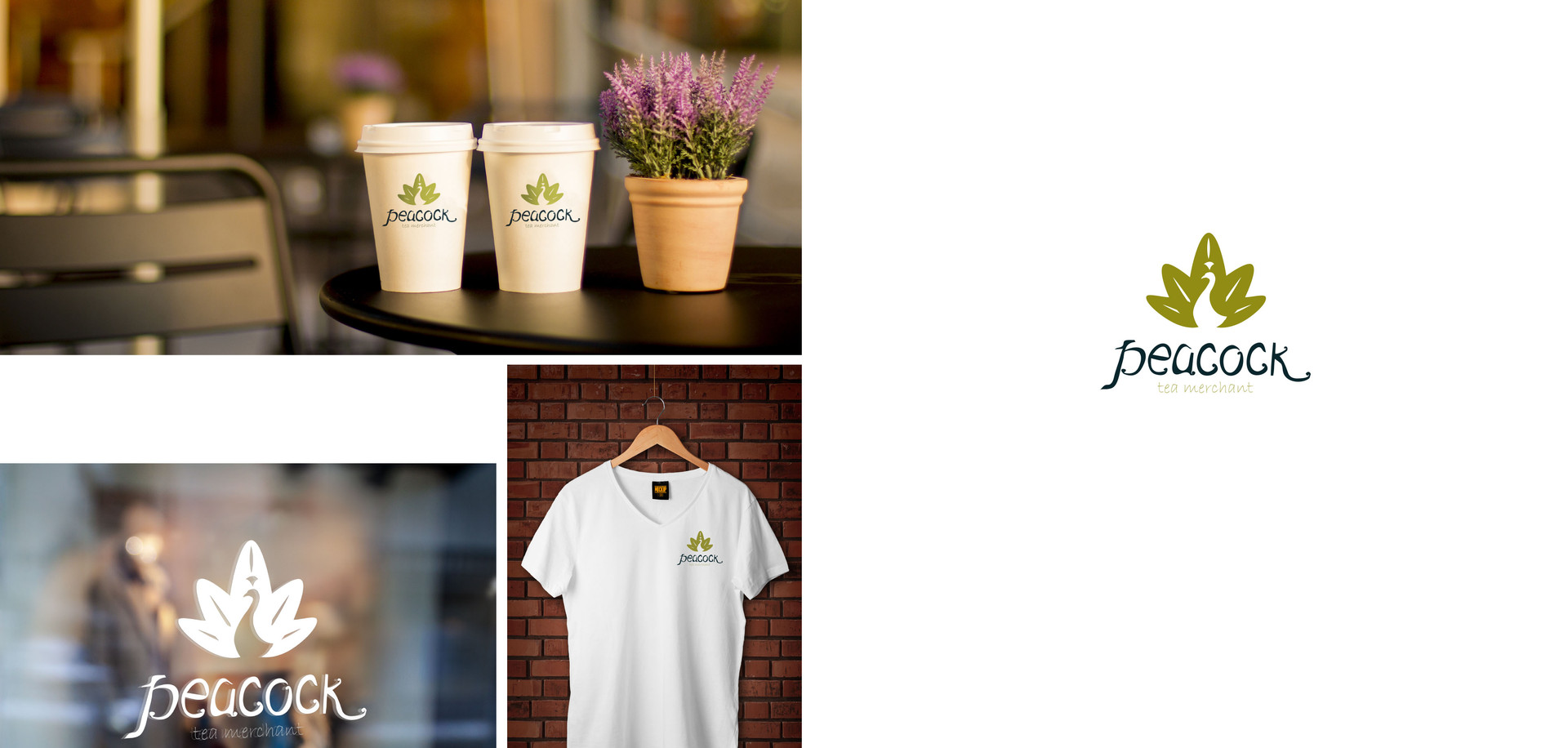Concept logo design for a cafe and tea dispensary.