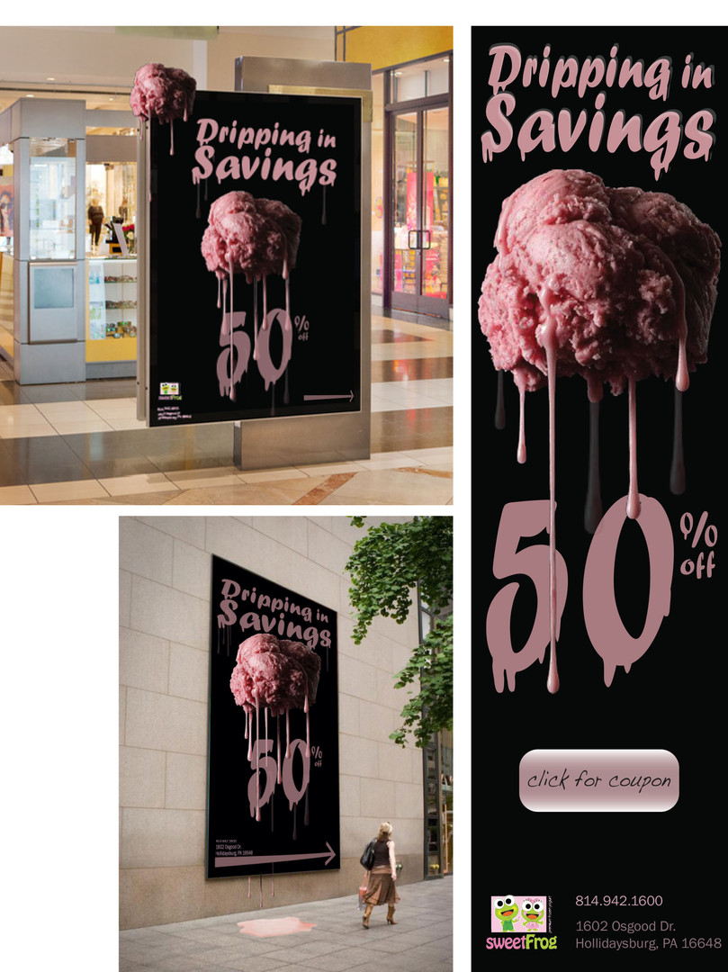 'Dripping in Savings' ad campaign with rebranding.
