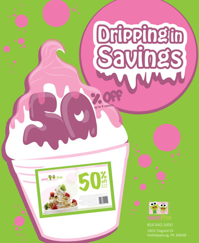 'Dripping in Savings' ad campaign in line with branding.