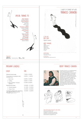 Artist event pamphlet design