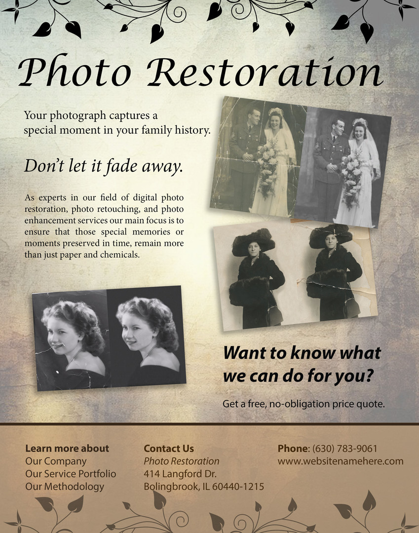 I restored each photo and made this vintage flier