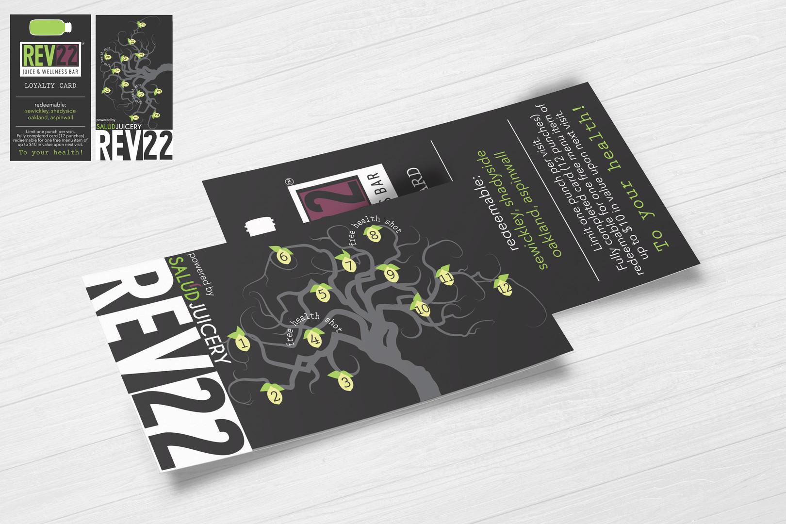 Salud Juicery punch card design mock-up