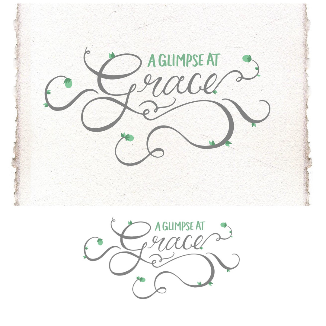 Concept personal blog, hand lettering logo