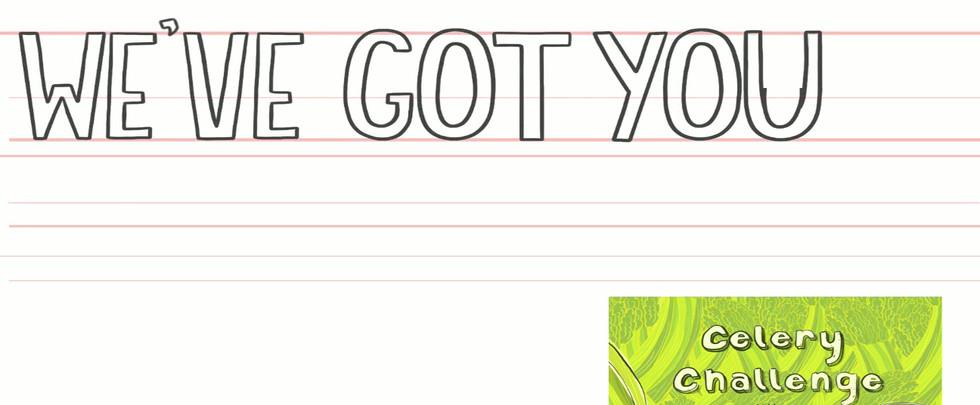 Illustration for a postcard design for Salud Juicery.