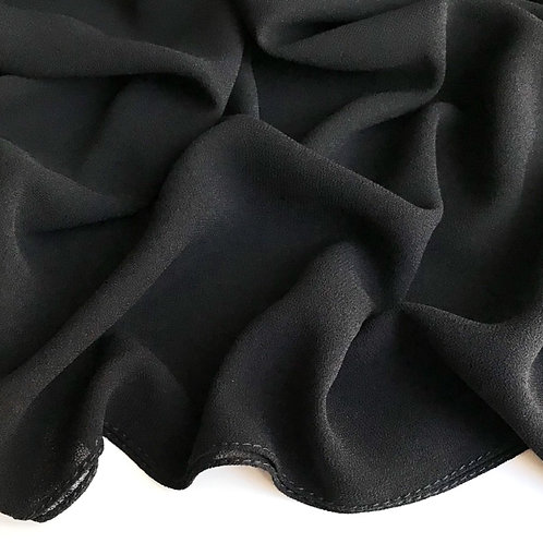 Premium Chiffon Hijab - Black