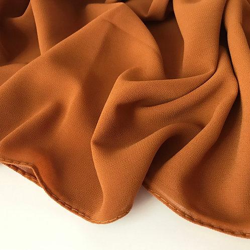 Apricot chiffon hijab close up