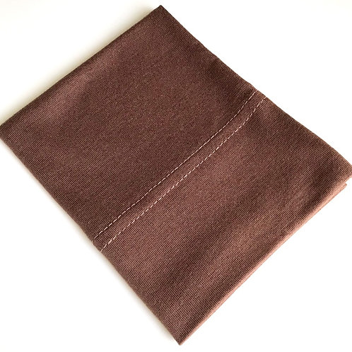 Cotton Jersey Underscarf - Chocolate