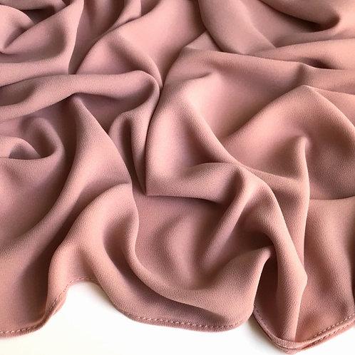 Premium Chiffon Hijab - Rose Brown