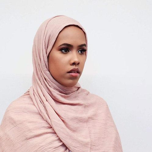 Jawharah nude Rayon hijab front view