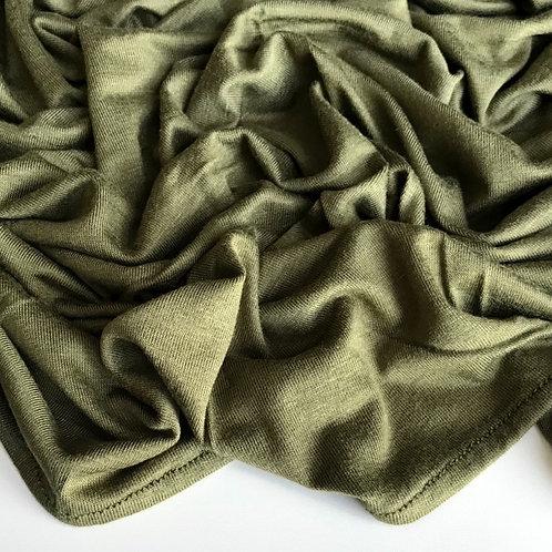 Premium Jersey Hijab - Olive