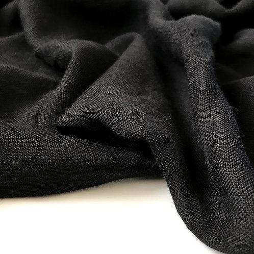 Black viscose hijab close up