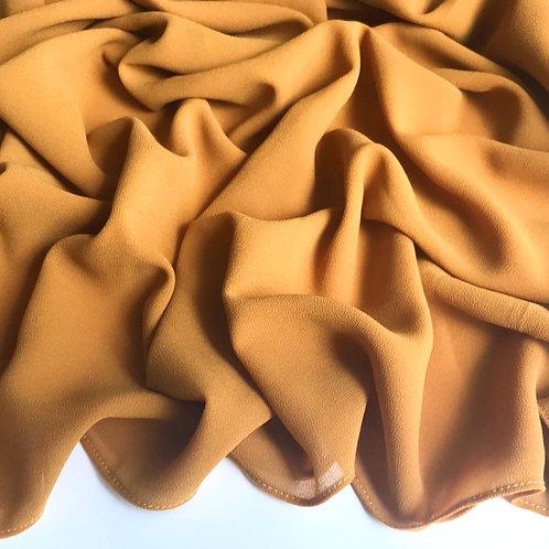 Premium Chiffon Hijab - Mustard