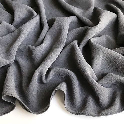 Premium Chiffon Hijab - Deep Grey