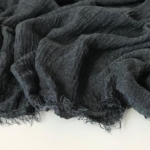 Premium crimped cotton hijab close up