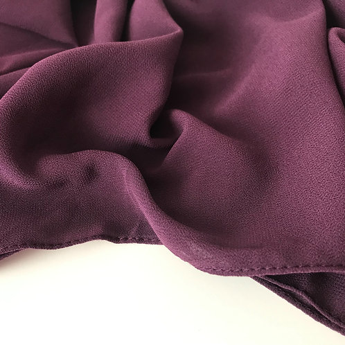 Grape chiffon hijab close up