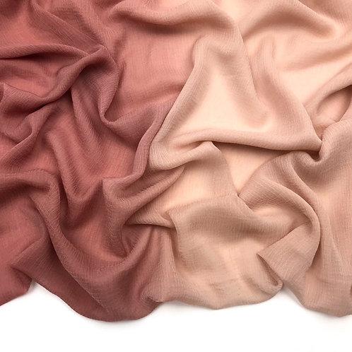 Allure Dual Tone Hijab - Rosy Nude