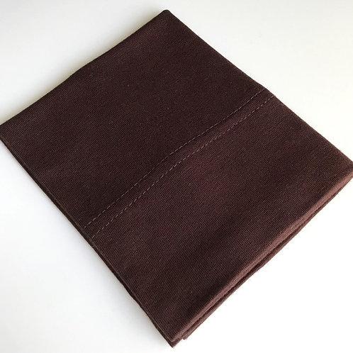 Cotton Jersey Underscarf - Dark Chocolate