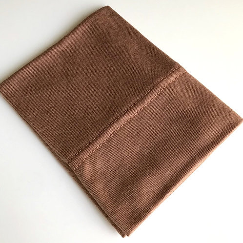 Cotton Jersey Underscarf - Deep Tan