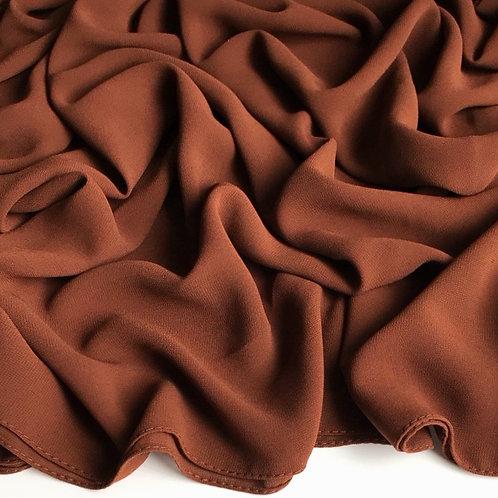 Premium Chiffon Hijab - Chocolate