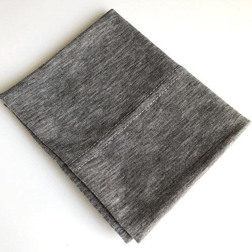 Cotton Jersey Underscarf - Light Grey Marl