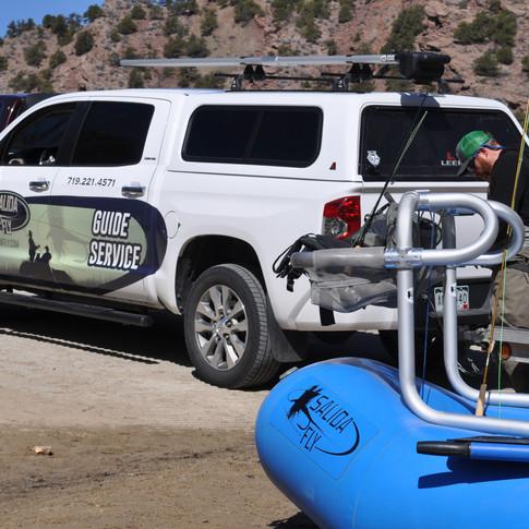 Salida Fly Truck and raft