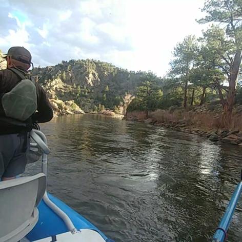 Evening streamer fishing