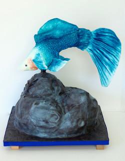 Blue Guppy Cake