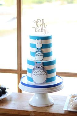 Totoro Baby Shower Cake